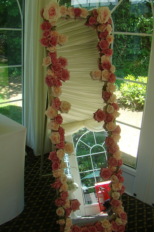 Flowered Cheval Mirror