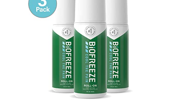 Biofreeze Pain Relief Roll-On, 3 oz. Roll-On, Fast Acting, Long Lasting, & Power