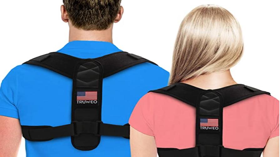 Posture Corrector For Men And Women - USA Patented Design - Adjustable Upper Bac