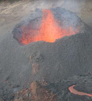 Volcan eruption du Piton de la Fournaise