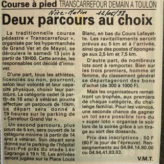 Var-Nice Matin 1998 course a pied 120619