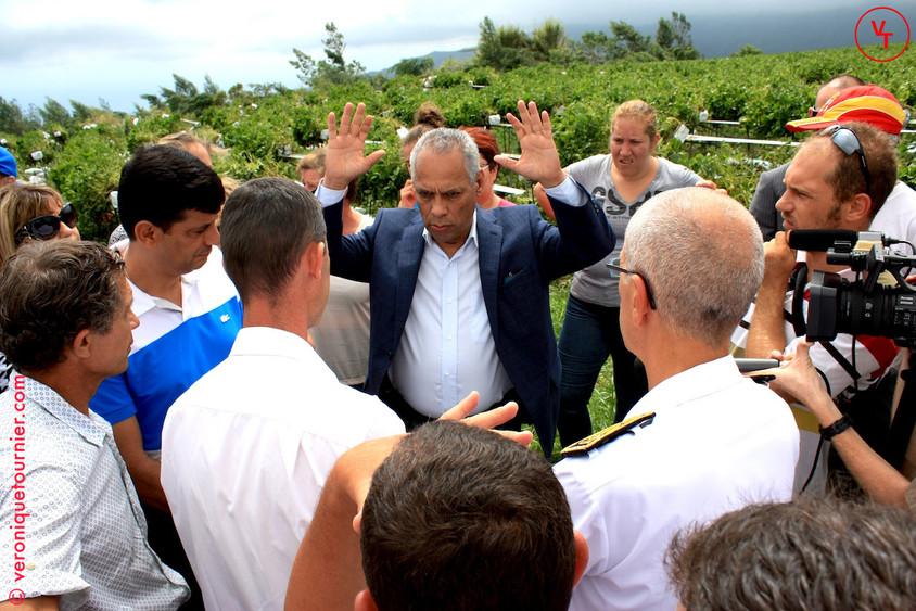 Victorin Lurel, Ministre des Outre-mer, La Réunion, 2014