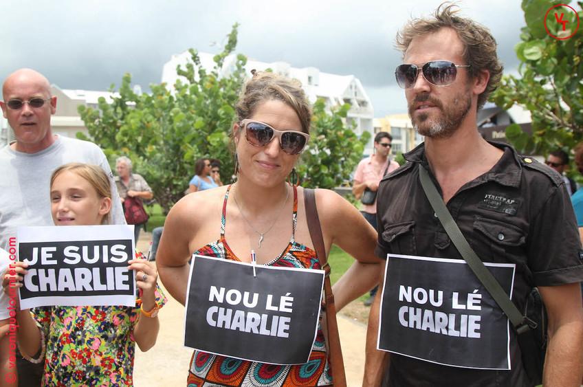 Soutien à Charlie Hebdo, La Réunion, 2015