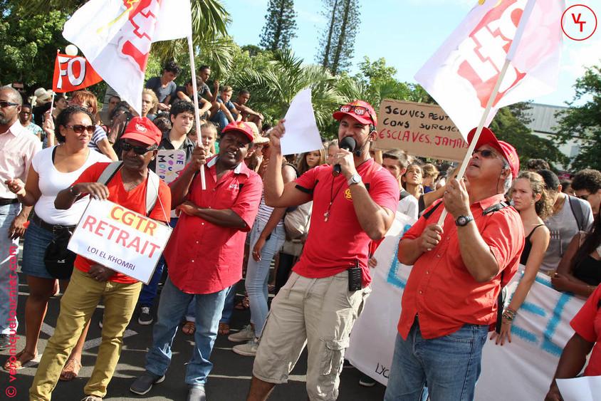 Manifestation contre la loi El Khomri, La Réunion, 2016