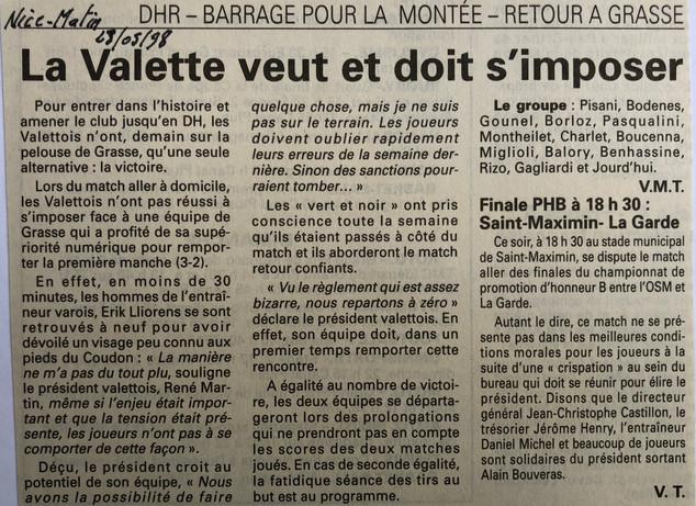 Var-Nice Matin 1998 football 28051998.JP