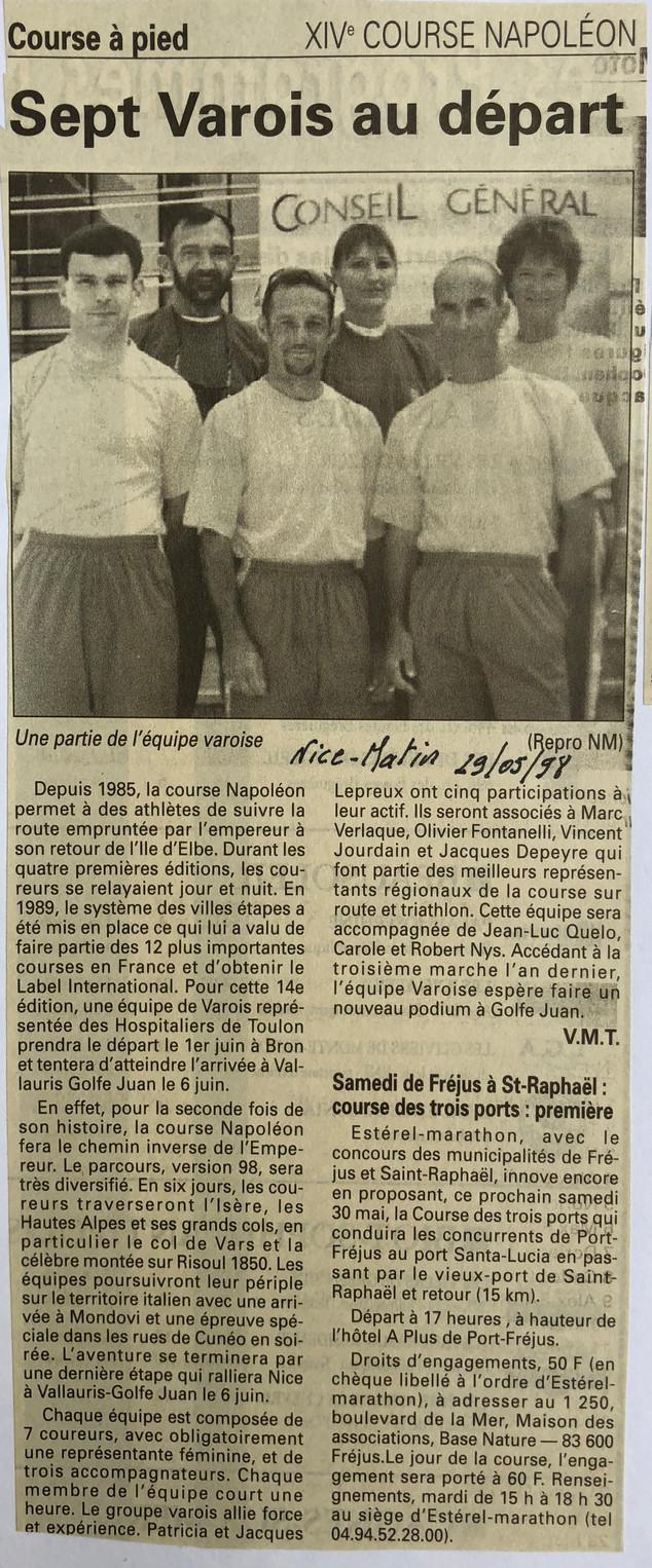 Var-Nice Matin 1998 course a pied 290519