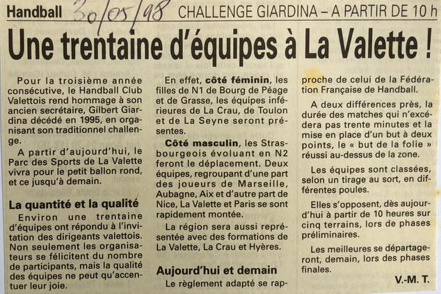 Var-Nice Matin 1998 Handball 30051998.JP