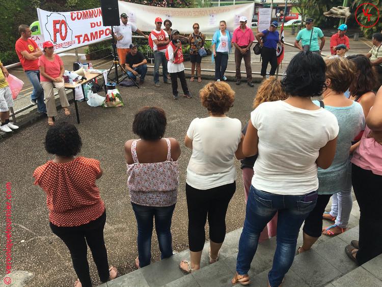 Manifestation de la fonction publique, Le Tampon, La Réunion, 2017