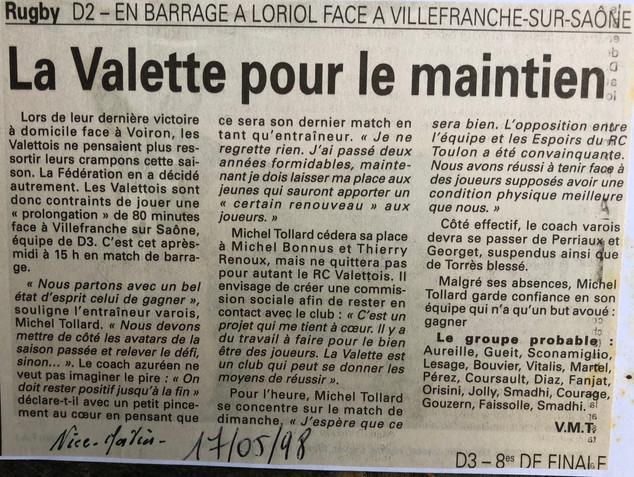 Var-Nice Matin 1998 rugby 17051998.JPG