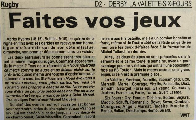Var-Nice Matin 1997 Rugby 1997.JPG