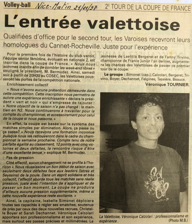 Var-Nice Matin 1997 Volley 21111997.JPG