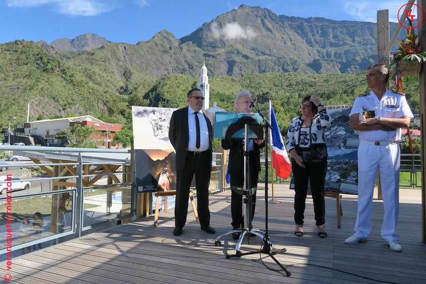 Martine Pinville, secrétaire d'Etat chargée du Commerce, de l'Artisanat, de la Consommation et de l'Economie sociale et solidaire, La Réunion, 2016