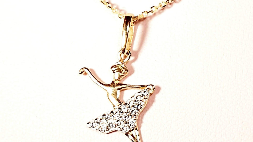 9ct gold dancing lady