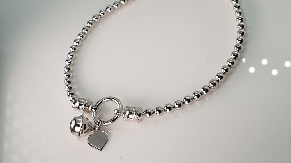 Silver Techno Stretch With Bell And Heart