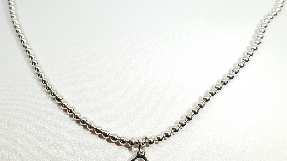 Techno Stretch Beaded With Heart Charm
