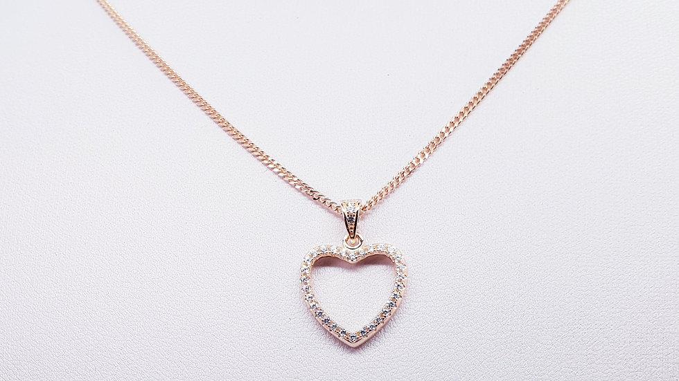 Sparkling Cubic Zirconia Heart