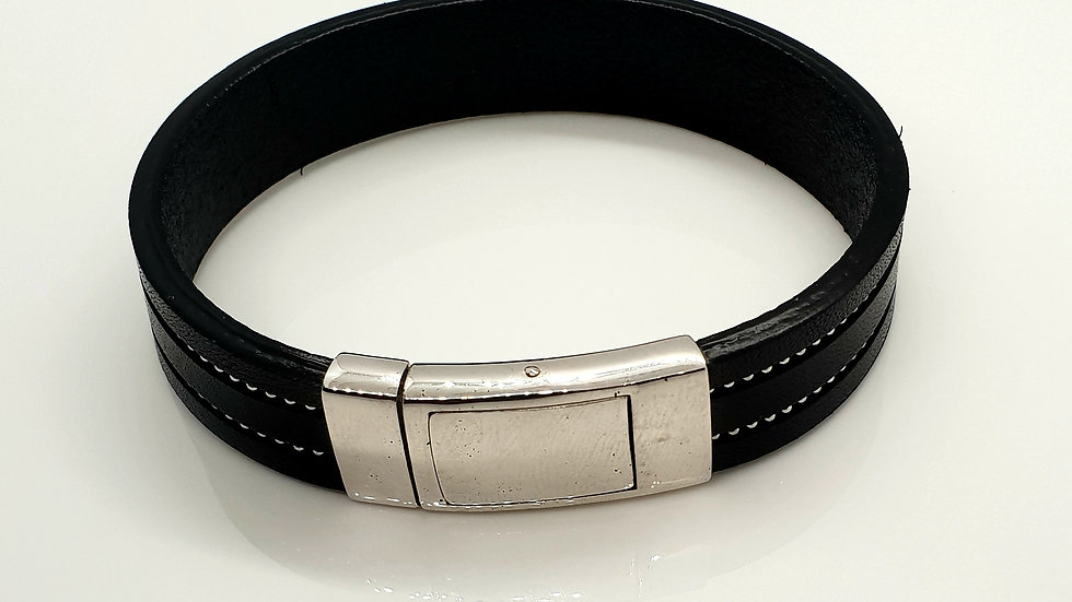 Fine Italian Leather With Sterling Silver Clasp