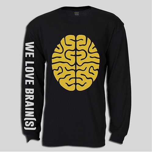 THE BRAIN longsleeve men's tee