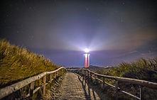 Vuurtoren met licht in de nacht_VVV Texe