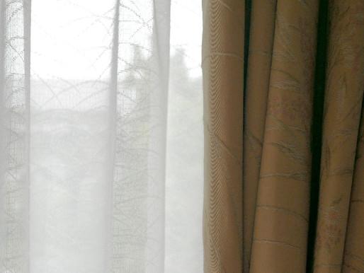 和室のカーテン交換してきました。