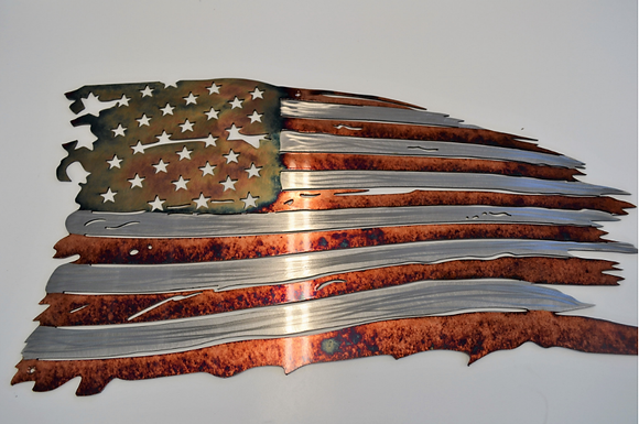 Tattered Flag Copper Fire... (6 Sizes Available)