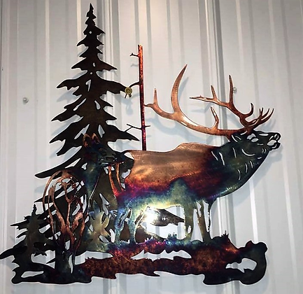 Elk Bugle with Cow