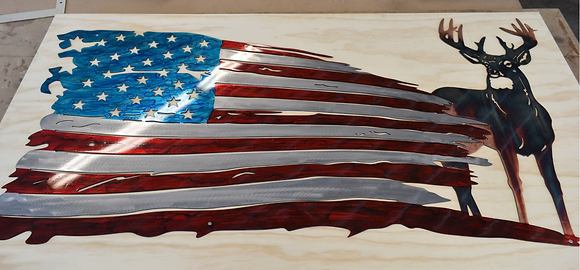 American Flag Art – Whitetail Flag...(2 Sizes Available)