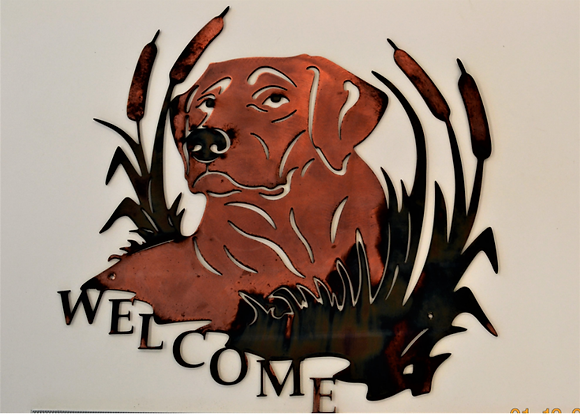 Yellow Lab Welcome