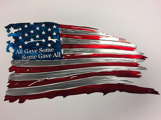 Tattered Flag Some Gave All...(6 Sizes Available)