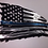 Thumbnail: Tattered Flag Thin Blue Line (Police Metal Art)...(6 Sizes Available)