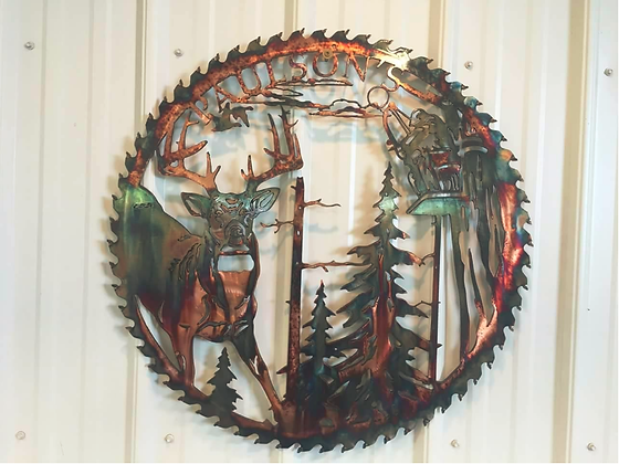 Sawblade with Deer