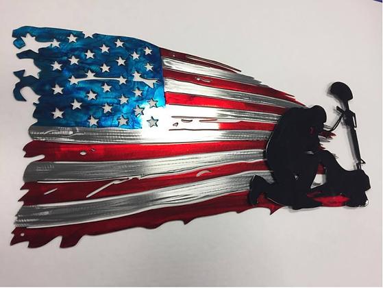Tattered Flag-Hero's Hero...(4 Sizes Available)