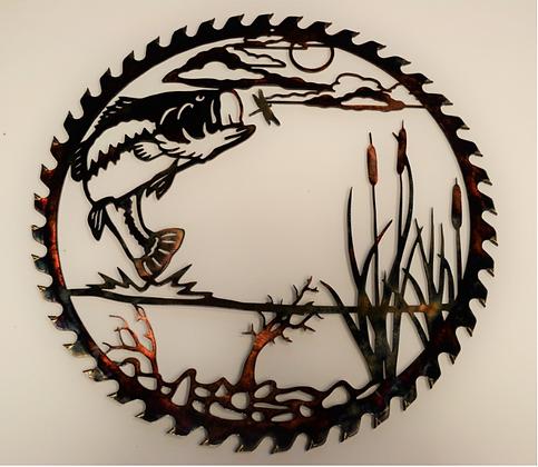 Sawblade Metal Art Jumping Bass