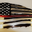 Thumbnail: Tattered Flag Thin Red Line w/Badge Number ( Fireman's Metal Art)...(4 Sizes)