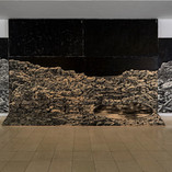 Laver, 2019, 105 x 320 in, 265 x 800 cm, carved pinewood panels, woodcut & rubbing, ink on handmade Kozo & Abaca Paper
