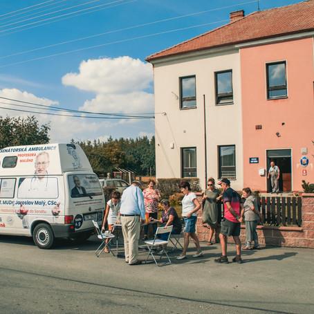 Fotoreport z úterního výjezdu pojízdné ambulance