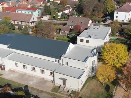 Nová střecha sokolovny