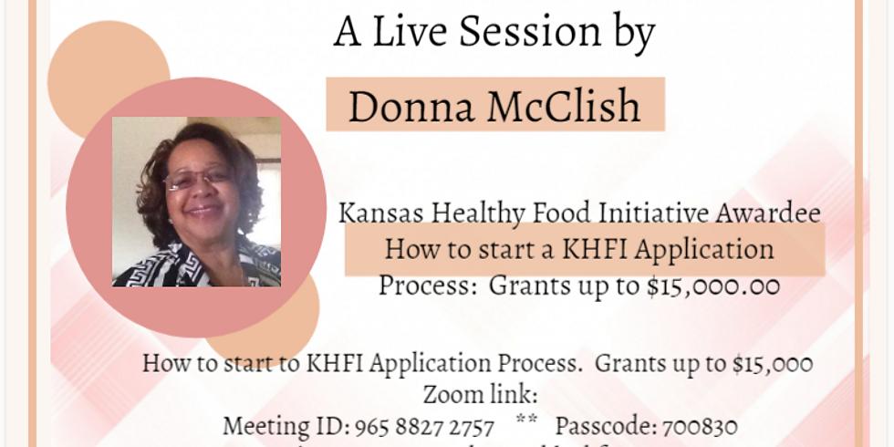KHFI Grant Workshop with Donna McClish