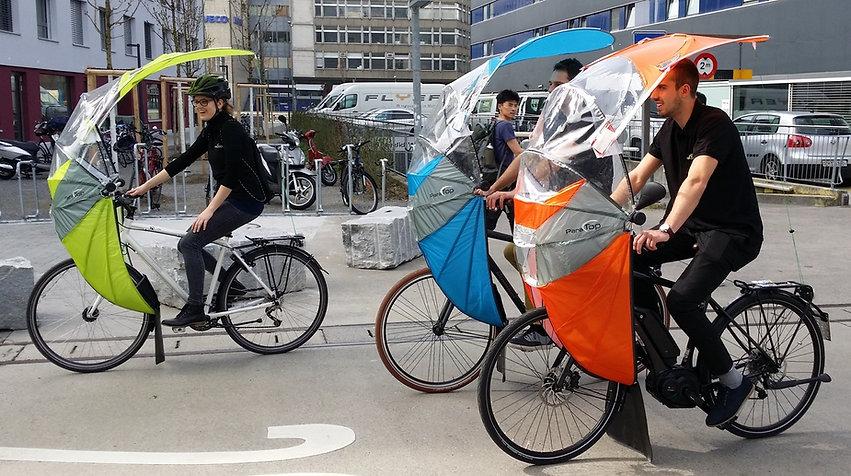 ParaTop.ch Regenverdeck für Fahrräder, Bicycle Rain Protection