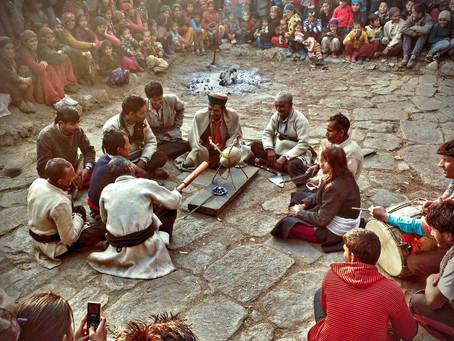 Pumpkin sacrifice during Kalap annual festival