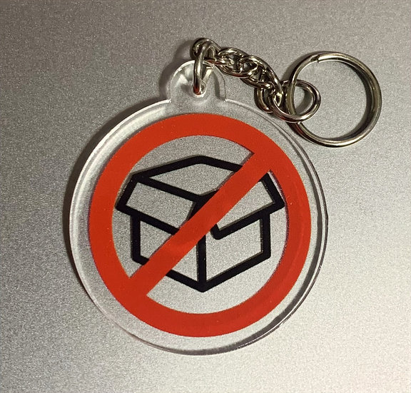 NO BOXES KEYCHAIN