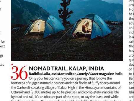 'Nomad Trail' got featured in Lonely Planet UK.