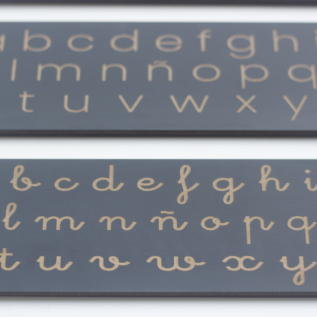 Tablillas abecedario