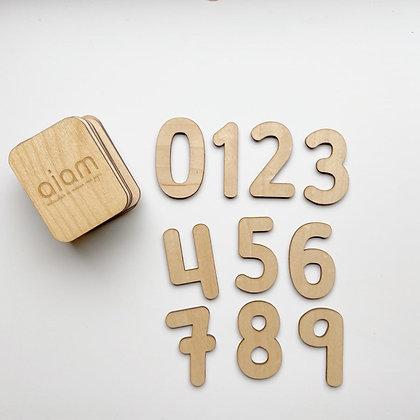 Mini plantillas números