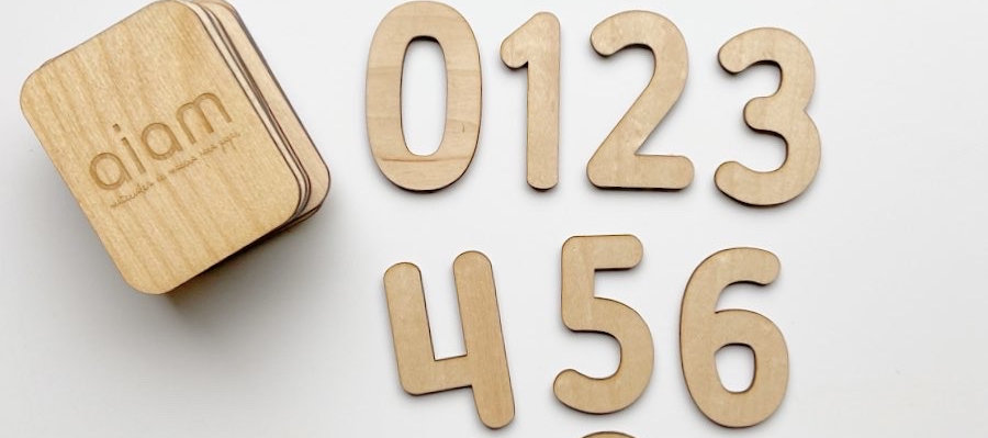 Mini plantillas de números insertables