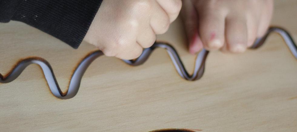 """Plantilla de grafomotricidad - modelo """"serpiente"""""""