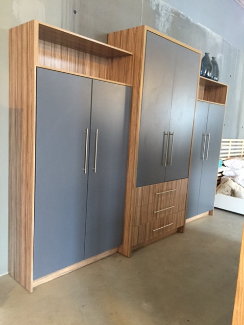 Indian Ebony in Storm Grey Built-in Cupboard