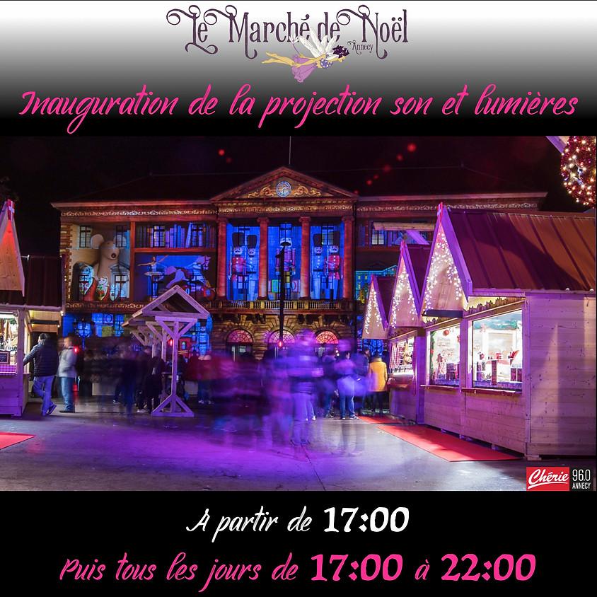 Inauguration de la projection son et lumières - Marché de Noël