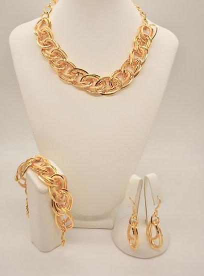 Brass Intrecciata diamantata Gold