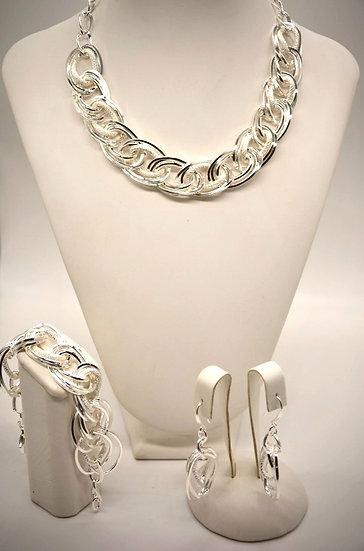 Brass Intrecciata diamantata Silver